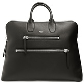 Mulberry Chunky-zip grained-leather holdall