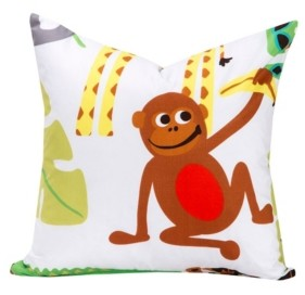 "Crayola Jungle Love 26"" Designer Euro Throw Pillow"