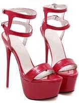 Romantiko Womens Party Peep Toe Strappy Platform Stiletto Ladies High Heel Sandal Shoes