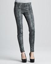 Jeans 801 Woodgrain Printed Skinny Jeans