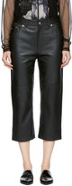 McQ Black Cropped Leather Pants