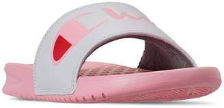 Champion Women Super Slide Split Script Slide Sandals from Finish Line