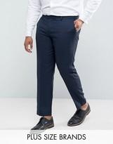 Harry Brown Plus Macro Birdseye Suit Trousers