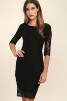 LuLu*s Midnight Garden Burgundy Lace Bodycon Dress