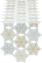 DESIGN IMPORTS Design Imports Embroidered Snowflake Table Runner