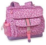 Bixbee Girl's 'Medium Sassy Spots' Leopard Print Backpack - Pink
