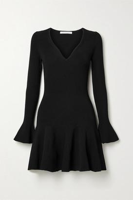 Jonathan Simkhai Fluted Ribbed-knit Mini Dress - Black