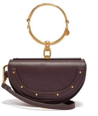 Chloé Nile Leather Minaudiere Clutch Bag - Womens - Burgundy