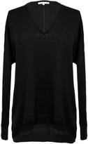 Gold Hawk V-Neck Wedge Sweater