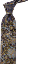 Canali Blue & Gold Paisley Silk Tie