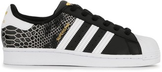 adidas Superstar snakeskin-effect low-top trainers