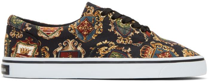 Dolce & Gabbana Multicolor Crest Sneakers