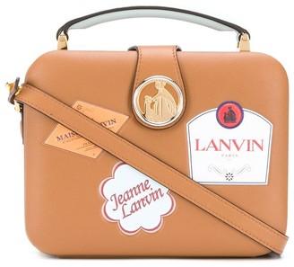 Lanvin Bento Labels minaudiere tote bag