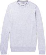 John Smedley - Contrast-trimmed Sea Island Cotton Sweater