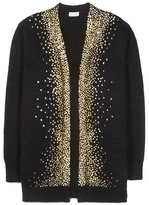 Saint Laurent Embellished Wool And Mohair-blend Cardigan