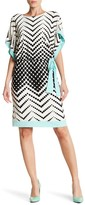Sandra Darren Polka Dot Print Waist Belt Dress