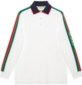 Gucci Cotton polo with stripe white