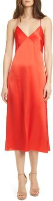 Alice + Olivia Loraine Seamed Slip Midi Dress