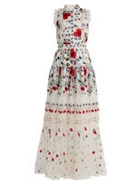 Erdem Ava floral-embroidered silk-organza gown