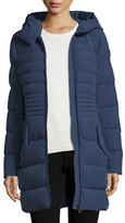Peuterey Hooded Quilted Zip-Front Parka, Dusty Blue