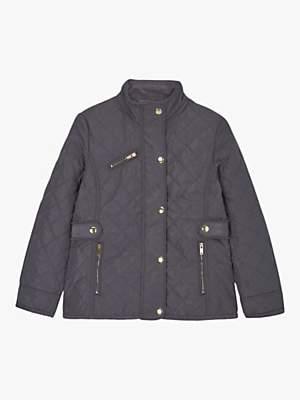 Mint Velvet Mintie by Girls' Quilted Jacket, Dark Grey
