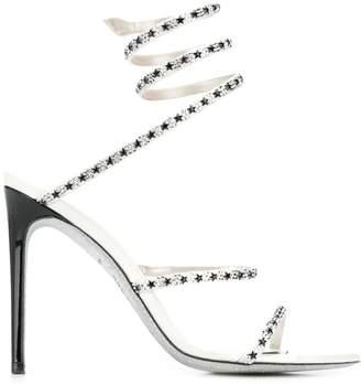 Rene Caovilla embellished spiral sandals
