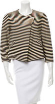 Elizabeth and James Striped Collarless Jacket