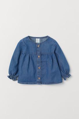 H&M Frilled cotton blouse