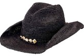 San Diego Hat Company Men's Crochet Raffia Cowboy Hat with Beaded Trim RHC1080