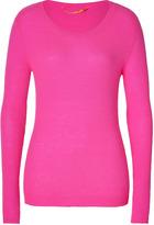 Dear Cashmere Cashmere Pullover in Lunatic Pink