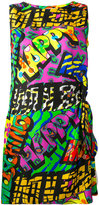 Moschino happy print shift dress - women - Silk - 40