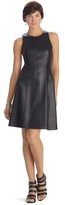 White House Black Market Limited Edition Sleeveless Leather A-Line Dress