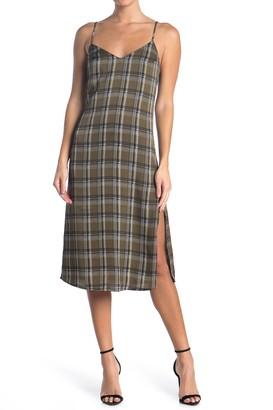 re:named apparel Becky Plaid Midi Dress
