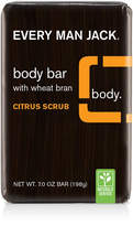 Every Man Jack Citrus Scrub Body Bar with Wheat Bran