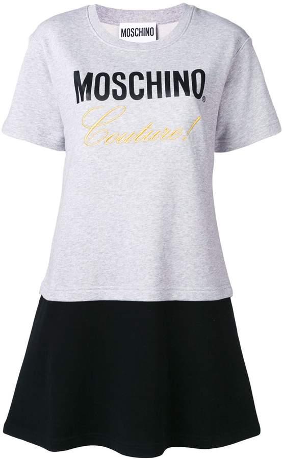 Moschino embroidered layered T-shirt dress
