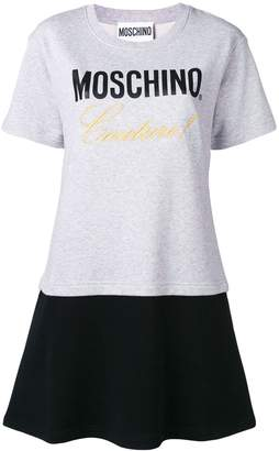 Moschino embroidered layered T-shirt dress