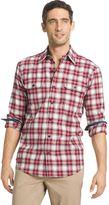 Izod Men's Classic-Fit Plaid Twill Performance Button-Down Shirt