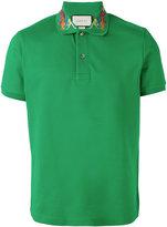 Gucci dragon embroidered polo shirt - men - Cotton/Spandex/Elastane - L