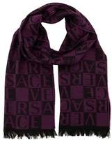 Versace It00643 Viola Purple 100% Wool Mens Scarf.