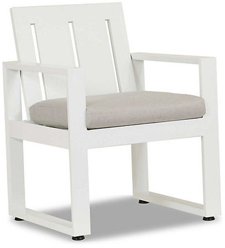One Kings Lane Newport Dining Chair - Frost - frame, frost; upholstery, cast silver