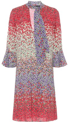 Etro Floral stretch-crepe minidress