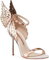 Sophia Webster Evangeline Angel Wing Sandals, Rose Gold/White