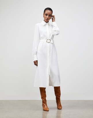 Lafayette 148 New York Petite Finesse Crepe Soraya Shirtdress