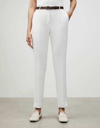 Lafayette 148 New York Petite Finesse Crepe Clinton Pant