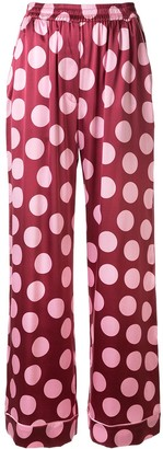 Dolce & Gabbana silk spotted trousers