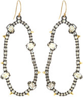 Alexis Bittar Irregular Oval Crystal Drop Earrings