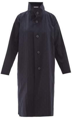 Issey Miyake Blink Geometric Print Coat - Womens - Navy