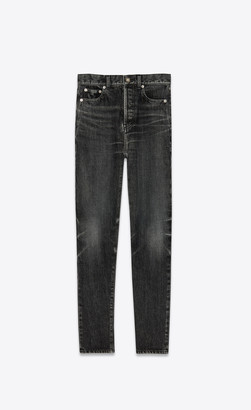 Saint Laurent Slim Jeans In Dirty Medium Black Denim Dirty Medium Black 26