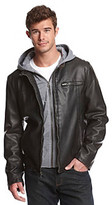 Levi's Levis Men's Black Racer Jacket with Jersey Hood