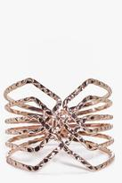 Boohoo Nina Hammered Metal Caged Cuff Bracelet